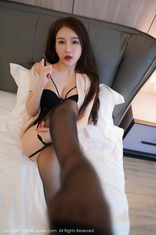 [XiuRen] Vol.2170 Yu Tu Miki 3P, Black Silk, Uniform, Xiuren, Yu Tu M I K I