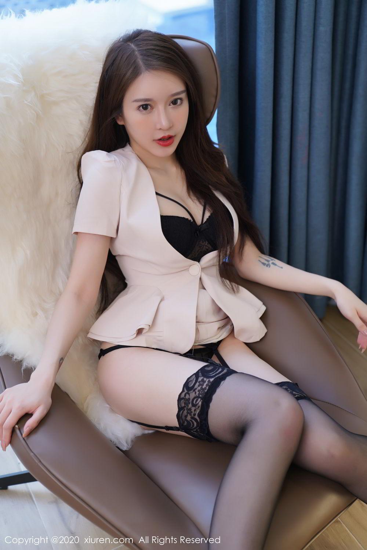 [XiuRen] Vol.2170 Yu Tu Miki 46P, Black Silk, Uniform, Xiuren, Yu Tu M I K I