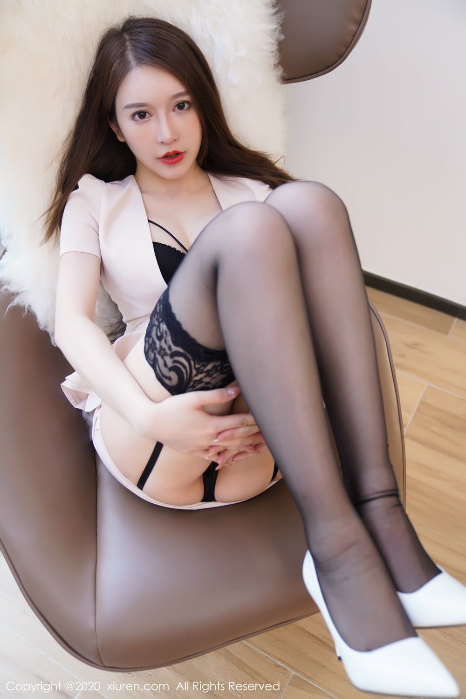 [XiuRen] Vol.2170 Yu Tu Miki 48P, Black Silk, Uniform, Xiuren, Yu Tu M I K I