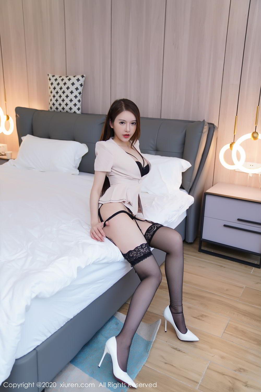 [XiuRen] Vol.2170 Yu Tu Miki 58P, Black Silk, Uniform, Xiuren, Yu Tu M I K I