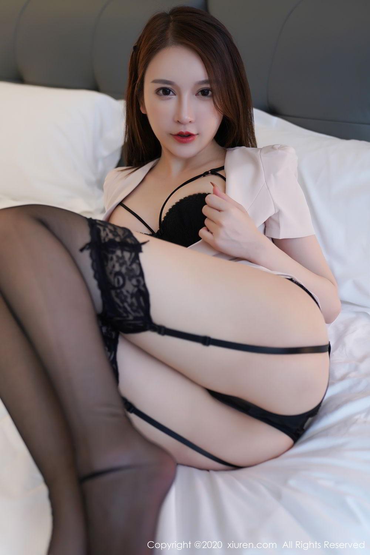 [XiuRen] Vol.2170 Yu Tu Miki 60P, Black Silk, Uniform, Xiuren, Yu Tu M I K I