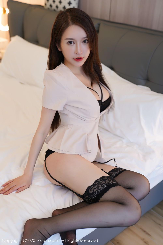 [XiuRen] Vol.2170 Yu Tu Miki 62P, Black Silk, Uniform, Xiuren, Yu Tu M I K I