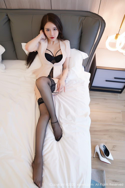 [XiuRen] Vol.2170 Yu Tu Miki 66P, Black Silk, Uniform, Xiuren, Yu Tu M I K I