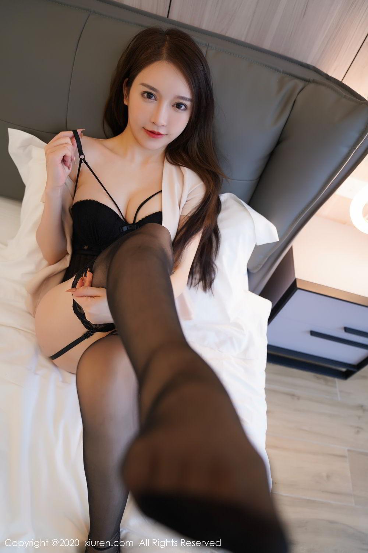 [XiuRen] Vol.2170 Yu Tu Miki 68P, Black Silk, Uniform, Xiuren, Yu Tu M I K I
