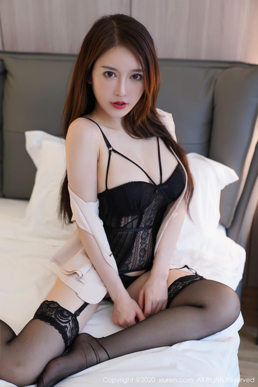 [XiuRen] Vol.2170 Yu Tu Miki 69P, Black Silk, Uniform, Xiuren, Yu Tu M I K I