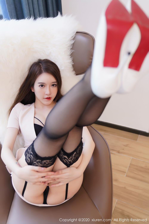 [XiuRen] Vol.2170 Yu Tu Miki 6P, Black Silk, Uniform, Xiuren, Yu Tu M I K I