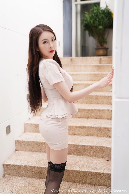 [XiuRen] Vol.2170 Yu Tu Miki 8P, Black Silk, Uniform, Xiuren, Yu Tu M I K I