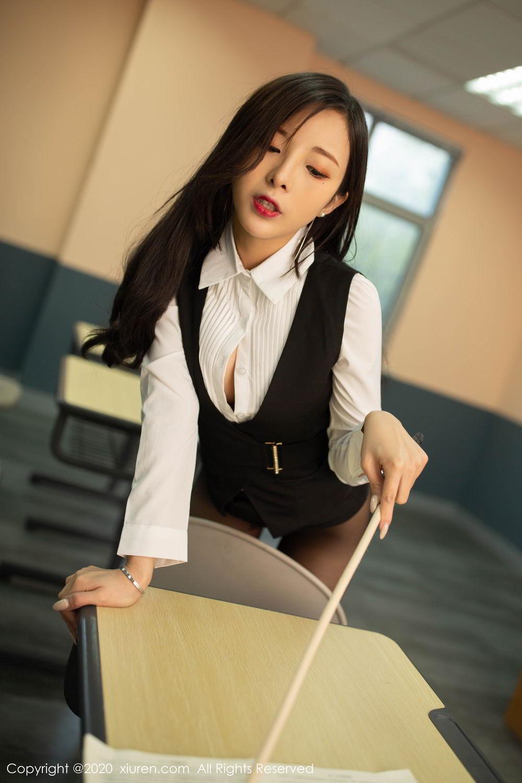 [XiuRen] Vol.2172 Chen Xiao Miao 37P, Black Silk, Chen Xiao Miao, Underwear, Xiuren