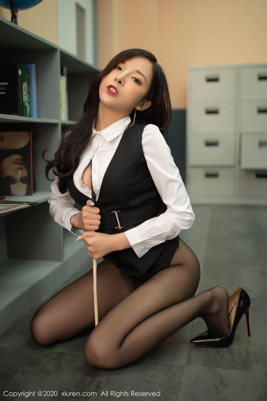 [XiuRen] Vol.2172 Chen Xiao Miao 48P, Black Silk, Chen Xiao Miao, Underwear, Xiuren