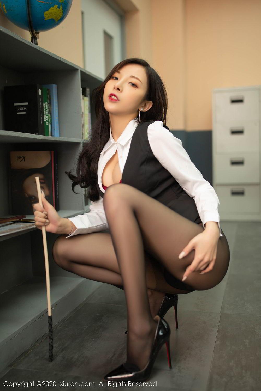 [XiuRen] Vol.2172 Chen Xiao Miao 53P, Black Silk, Chen Xiao Miao, Underwear, Xiuren
