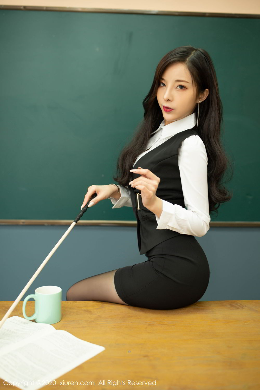 [XiuRen] Vol.2172 Chen Xiao Miao 6P, Black Silk, Chen Xiao Miao, Underwear, Xiuren