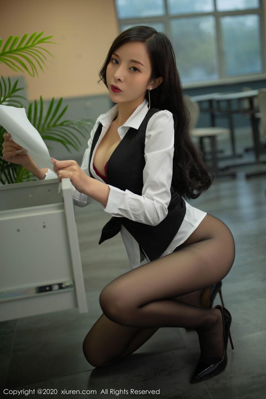 [XiuRen] Vol.2172 Chen Xiao Miao 73P, Black Silk, Chen Xiao Miao, Underwear, Xiuren