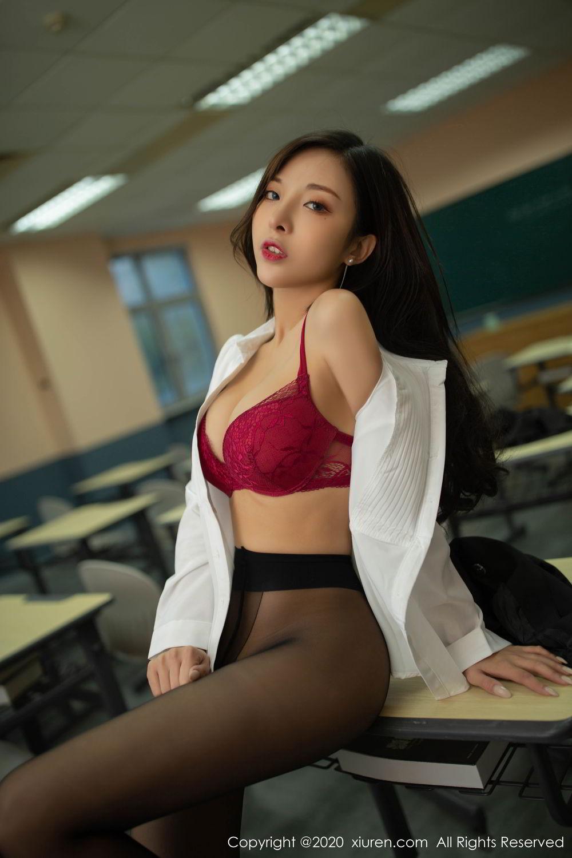 [XiuRen] Vol.2172 Chen Xiao Miao 74P, Black Silk, Chen Xiao Miao, Underwear, Xiuren
