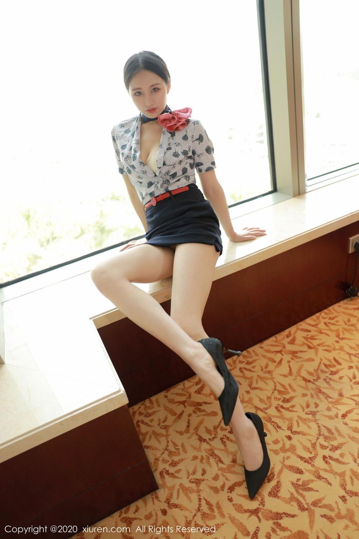 [XiuRen] Vol.2179 Yue Yin Tong 10P, Adult, Stewardess, Underwear, Xiuren, Yue Yin Tong