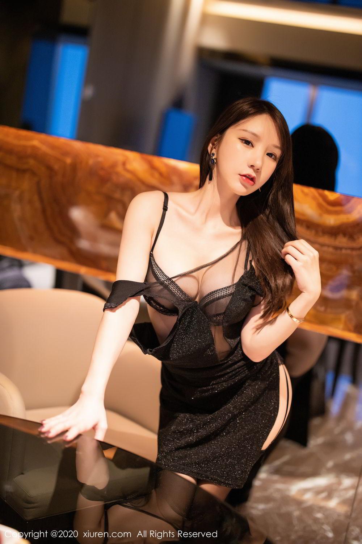 [XiuRen] Vol.2180 Zhou Yu Xi 2P, Black Silk, Tall, Xiuren, Zhou Yu Xi