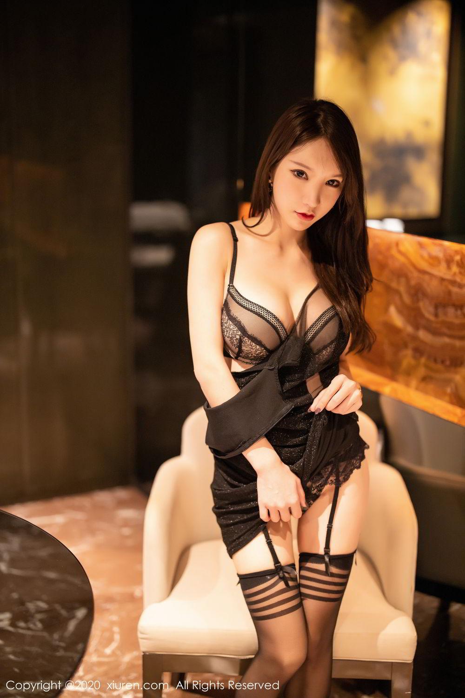 [XiuRen] Vol.2180 Zhou Yu Xi 68P, Black Silk, Tall, Xiuren, Zhou Yu Xi