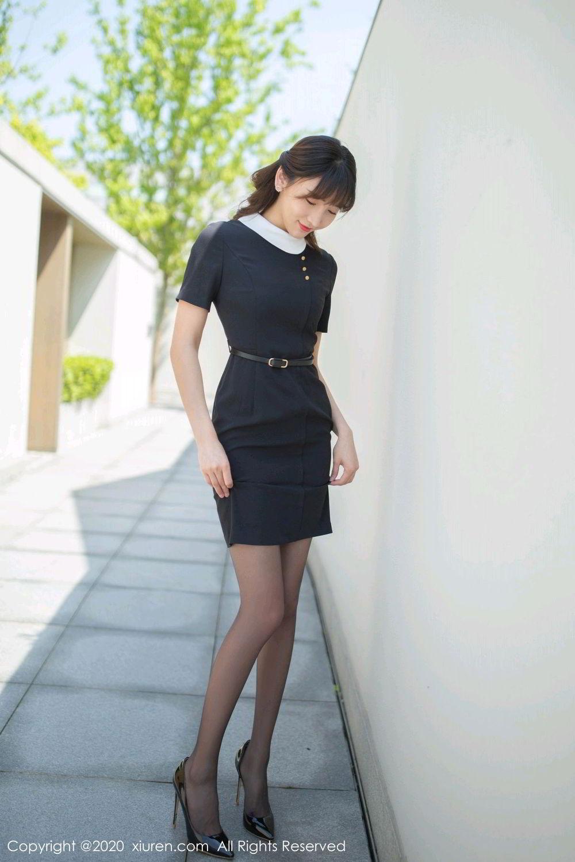 [XiuRen] Vol.2185 Lu Xuan Xuan 1P, Black Silk, Lu Xuan Xuan, Underwear, Xiuren