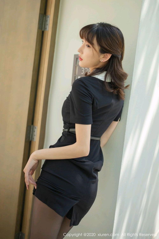 [XiuRen] Vol.2185 Lu Xuan Xuan 2P, Black Silk, Lu Xuan Xuan, Underwear, Xiuren