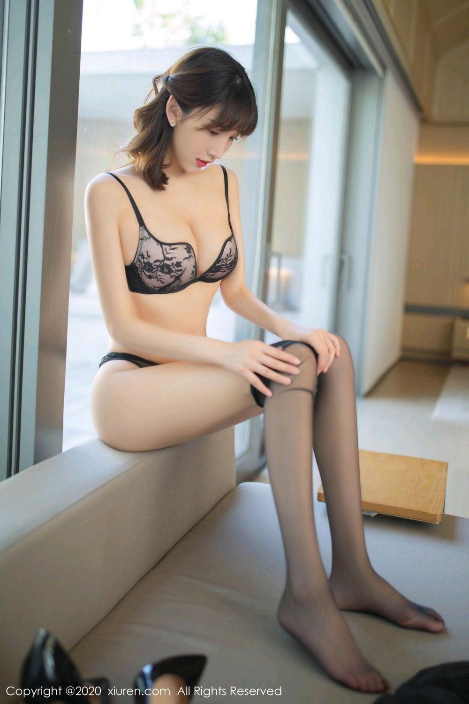 [XiuRen] Vol.2185 Lu Xuan Xuan 44P, Black Silk, Lu Xuan Xuan, Underwear, Xiuren