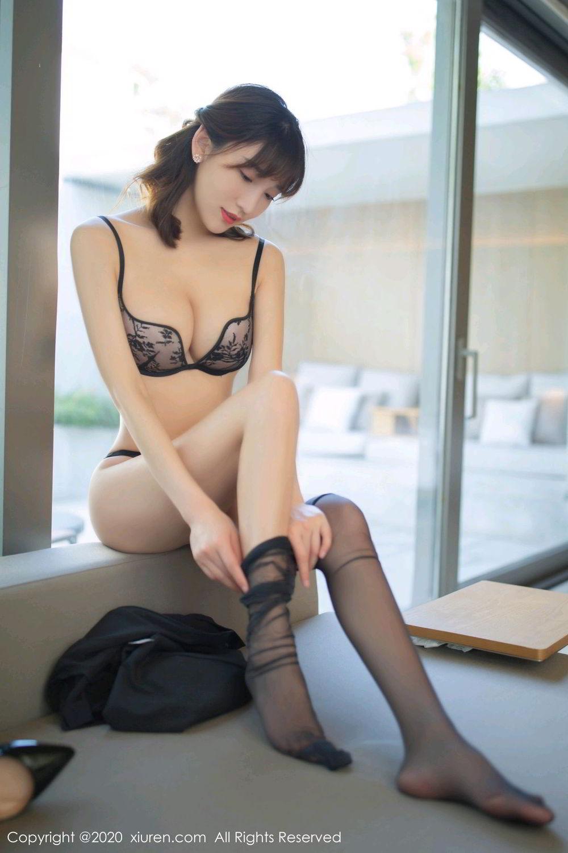 [XiuRen] Vol.2185 Lu Xuan Xuan 46P, Black Silk, Lu Xuan Xuan, Underwear, Xiuren