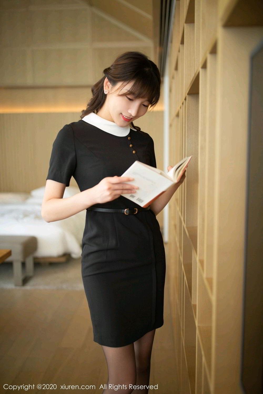 [XiuRen] Vol.2185 Lu Xuan Xuan 68P, Black Silk, Lu Xuan Xuan, Underwear, Xiuren