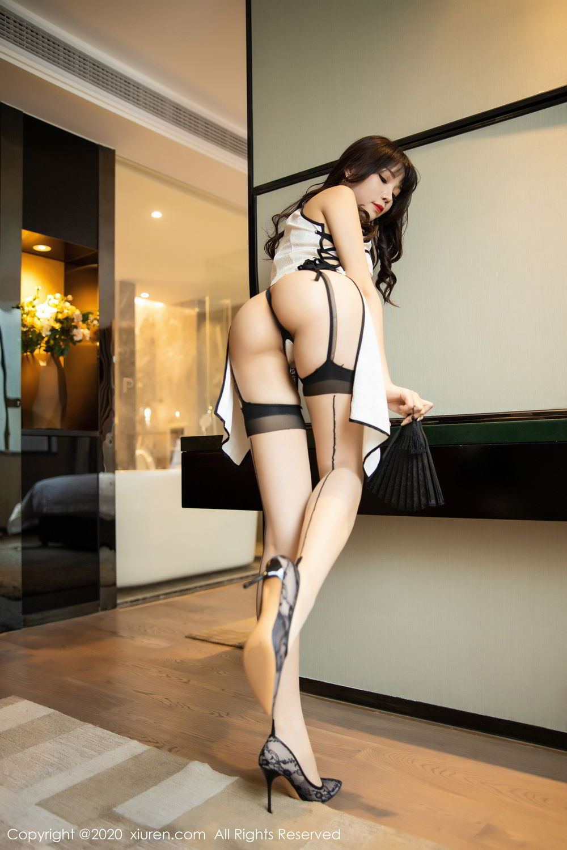 [XiuRen] Vol.2195 Zhi Zhi Booty 14P, Chen Zhi, Cheongsam, Tall, Underwear, Xiuren