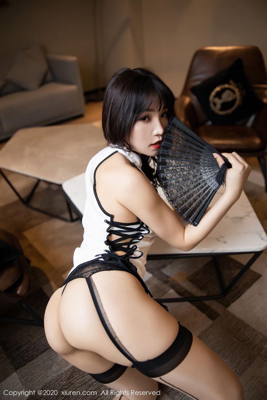 [XiuRen] Vol.2195 Zhi Zhi Booty 37P, Chen Zhi, Cheongsam, Tall, Underwear, Xiuren