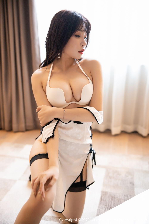 [XiuRen] Vol.2195 Zhi Zhi Booty 43P, Chen Zhi, Cheongsam, Tall, Underwear, Xiuren