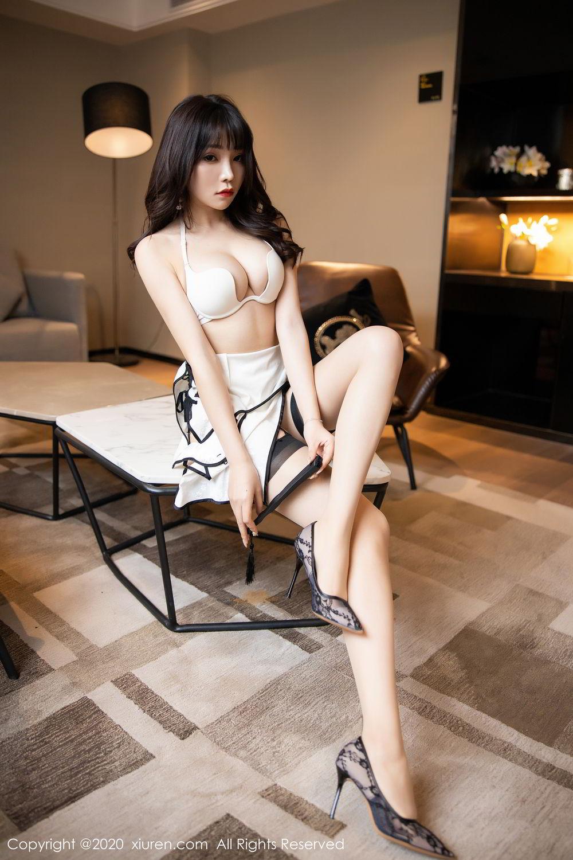 [XiuRen] Vol.2195 Zhi Zhi Booty 48P, Chen Zhi, Cheongsam, Tall, Underwear, Xiuren