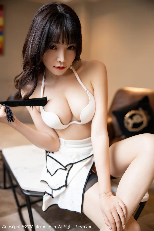 [XiuRen] Vol.2195 Zhi Zhi Booty 49P, Chen Zhi, Cheongsam, Tall, Underwear, Xiuren
