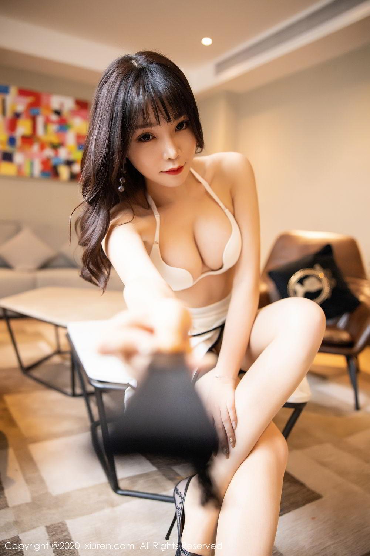 [XiuRen] Vol.2195 Zhi Zhi Booty 5P, Chen Zhi, Cheongsam, Tall, Underwear, Xiuren
