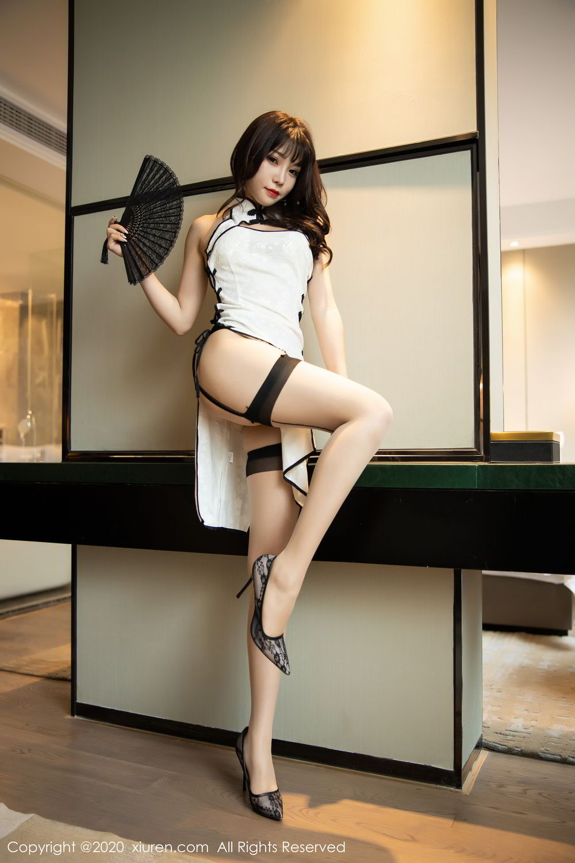 [XiuRen] Vol.2195 Zhi Zhi Booty 9P, Chen Zhi, Cheongsam, Tall, Underwear, Xiuren