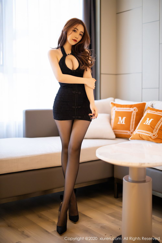 [XiuRen] Vol.2204 Fei Yue Ying 14P, Black Silk, Foot, Xie Zhi Xin, Xiuren