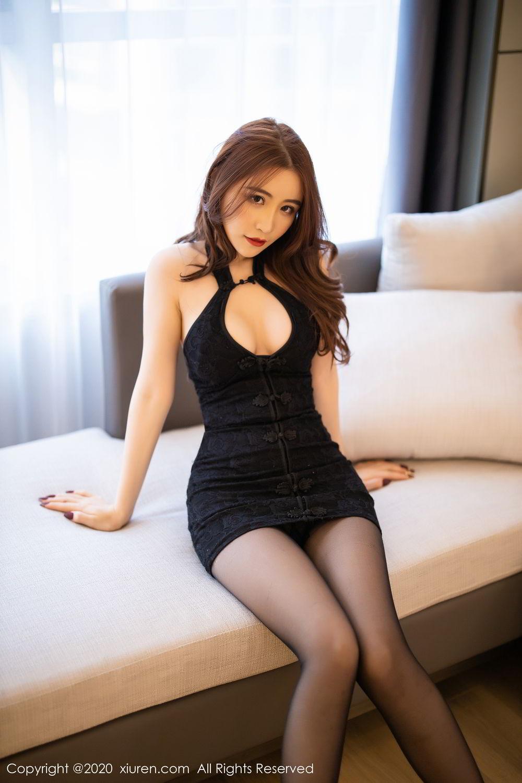 [XiuRen] Vol.2204 Fei Yue Ying 15P, Black Silk, Foot, Xie Zhi Xin, Xiuren
