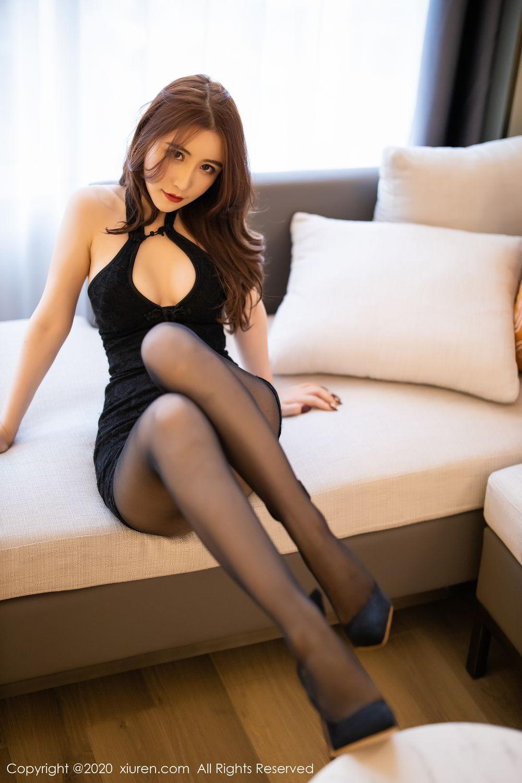 [XiuRen] Vol.2204 Fei Yue Ying 16P, Black Silk, Foot, Xie Zhi Xin, Xiuren