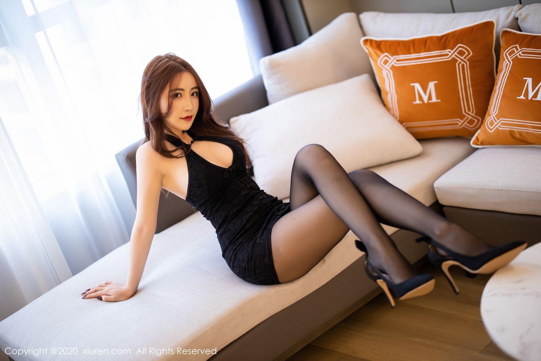 [XiuRen] Vol.2204 Fei Yue Ying 19P, Black Silk, Foot, Xie Zhi Xin, Xiuren
