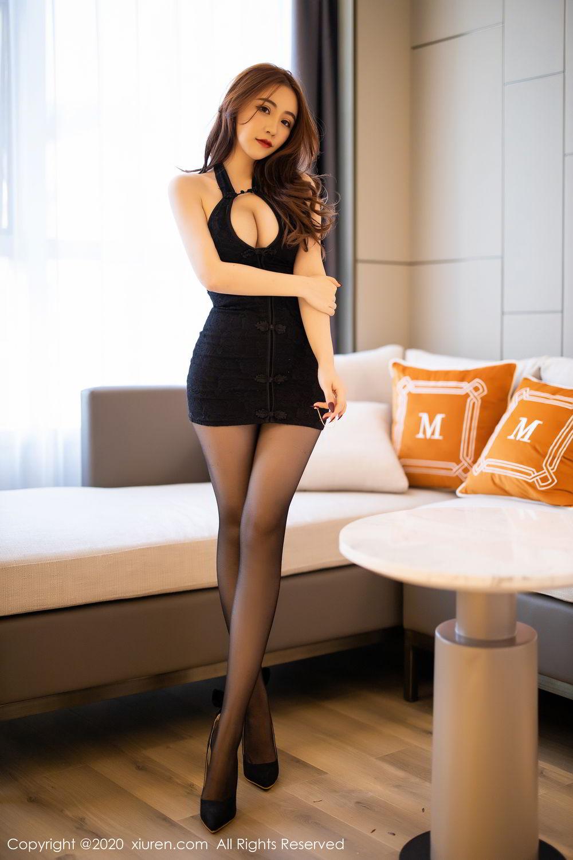 [XiuRen] Vol.2204 Fei Yue Ying 1P, Black Silk, Foot, Xie Zhi Xin, Xiuren