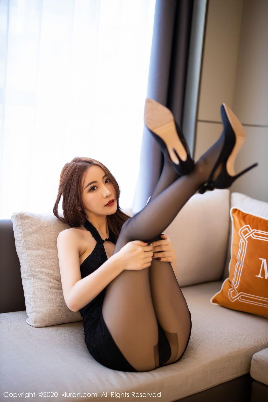 [XiuRen] Vol.2204 Fei Yue Ying 20P, Black Silk, Foot, Xie Zhi Xin, Xiuren