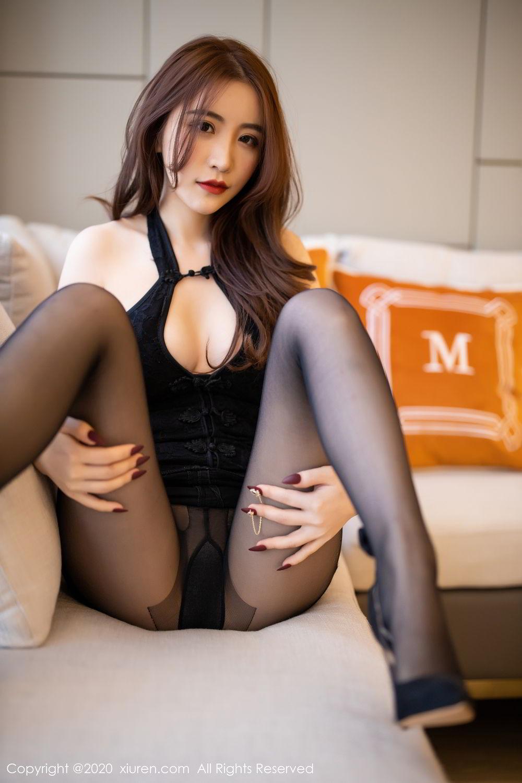 [XiuRen] Vol.2204 Fei Yue Ying 24P, Black Silk, Foot, Xie Zhi Xin, Xiuren