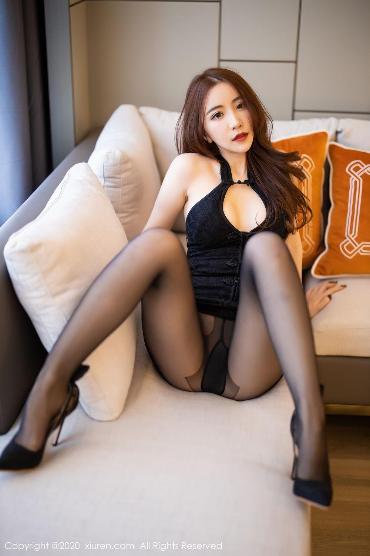 [XiuRen] Vol.2204 Fei Yue Ying 25P, Black Silk, Foot, Xie Zhi Xin, Xiuren