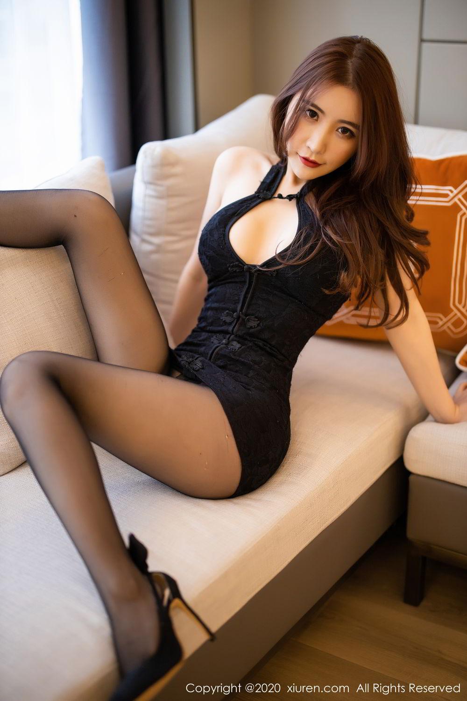 [XiuRen] Vol.2204 Fei Yue Ying 26P, Black Silk, Foot, Xie Zhi Xin, Xiuren