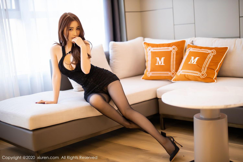 [XiuRen] Vol.2204 Fei Yue Ying 27P, Black Silk, Foot, Xie Zhi Xin, Xiuren