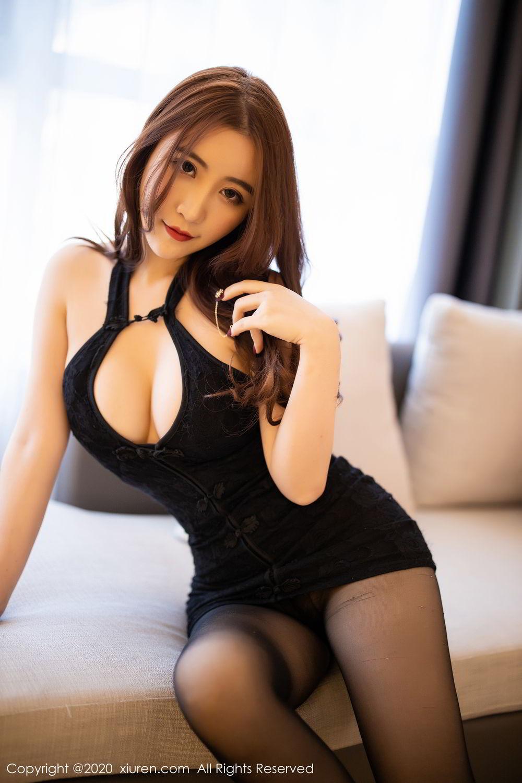 [XiuRen] Vol.2204 Fei Yue Ying 28P, Black Silk, Foot, Xie Zhi Xin, Xiuren