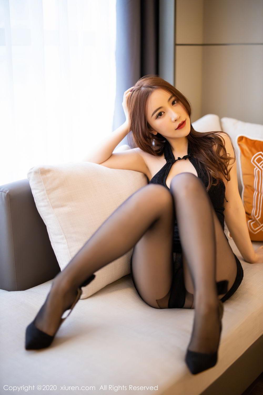 [XiuRen] Vol.2204 Fei Yue Ying 2P, Black Silk, Foot, Xie Zhi Xin, Xiuren