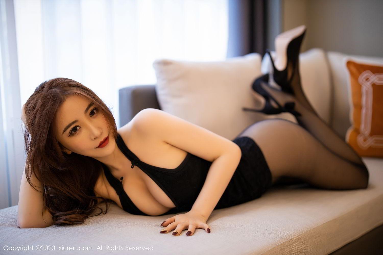 [XiuRen] Vol.2204 Fei Yue Ying 35P, Black Silk, Foot, Xie Zhi Xin, Xiuren
