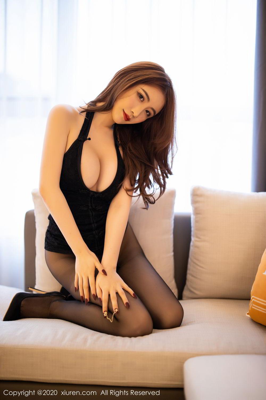 [XiuRen] Vol.2204 Fei Yue Ying 37P, Black Silk, Foot, Xie Zhi Xin, Xiuren