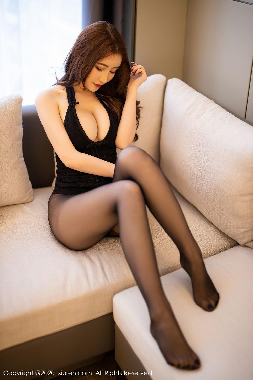 [XiuRen] Vol.2204 Fei Yue Ying 40P, Black Silk, Foot, Xie Zhi Xin, Xiuren