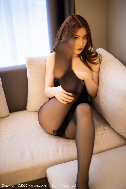 [XiuRen] Vol.2204 Fei Yue Ying 45P, Black Silk, Foot, Xie Zhi Xin, Xiuren