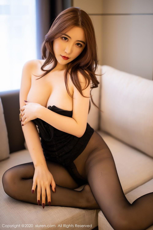 [XiuRen] Vol.2204 Fei Yue Ying 47P, Black Silk, Foot, Xie Zhi Xin, Xiuren