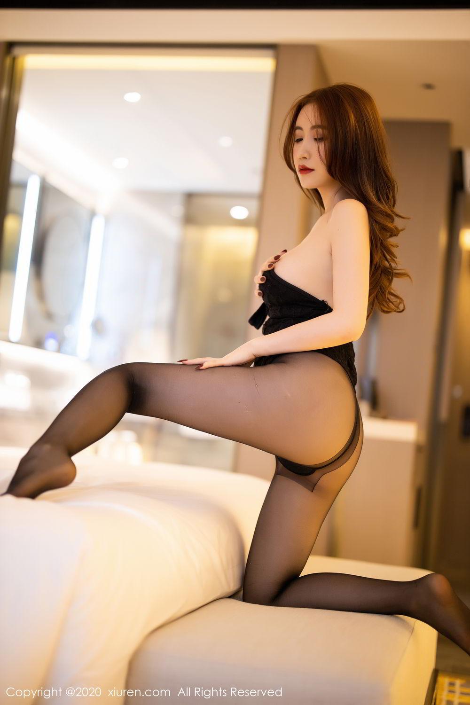 [XiuRen] Vol.2204 Fei Yue Ying 52P, Black Silk, Foot, Xie Zhi Xin, Xiuren